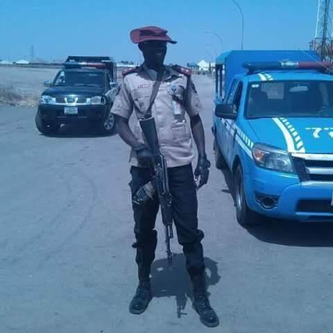 FRSC official carrying gun