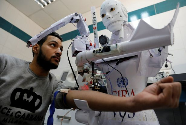 Robot That Can Detect Coronavirus And Enforce Face Mask Rules Undergoes Trials (Photos)