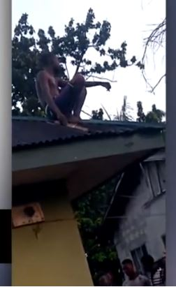 Shock As Wizard Allegedly Returning From Coven Crash Lands On Roof Top In Delta (Video)