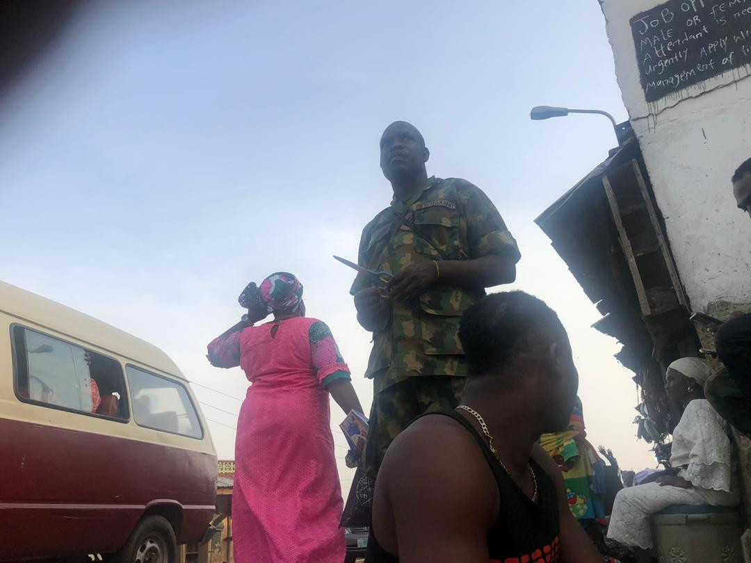 Opeation Beast: Soldier seen beating a woman in Ibadan for