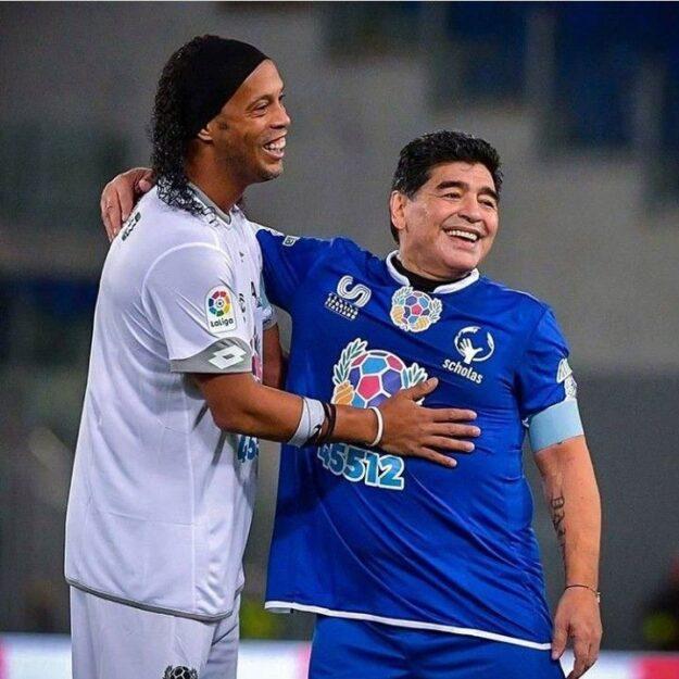 'The Wizard Of Wizards' – Ronaldinho Reacts To Maradona's Death