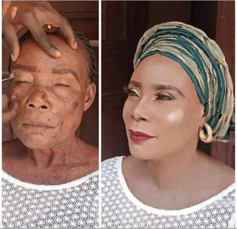 The shocking makeup transformation photo