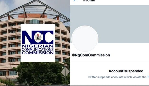 Twitter Suspends Account Of Nigerian Communications Commission (NCC)