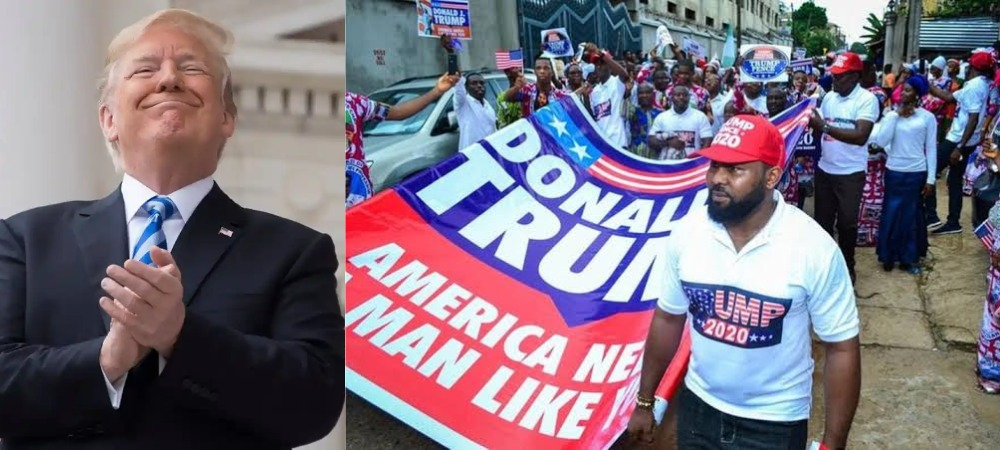 US President, Donald Trump Reacts As Nigerians Holds Rally To Campaign For Him [Video] 1