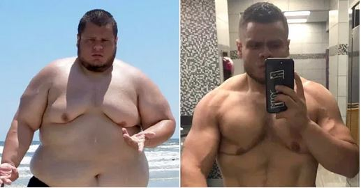 Wow! Obese Man Looks Totally Different After Losing 20 Stone Naturally (Photos)
