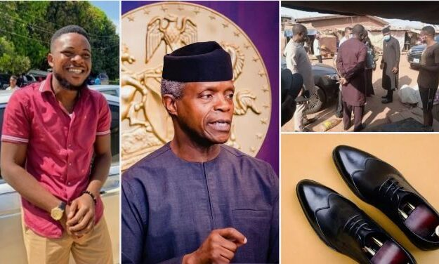 Young Nigerian Man Becomes VP Osinbajo's Shoemaker After Tweeting This