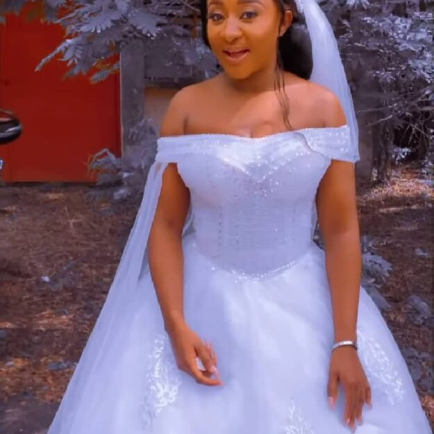Actress, Ini Edo Dazzles In Wedding Gown, Sparks Rumour of Secret Wedding (Video)