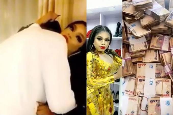 Bobrisky Flaunts N15 Million His Boyfriend Gave Him After Spending One Night Together [Video] 1