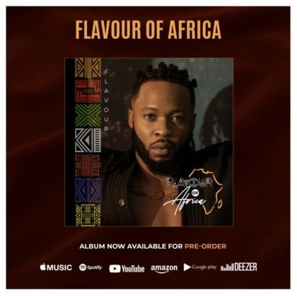 Flavour releases track list for 7th album, 'Flavour of Africa'