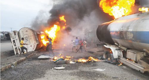 JUST IN: Petrol Tanker Explodes On Lagos-Ibadan Expressway