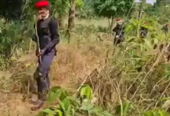 IPOB security outfit members spotted patrolling with gun