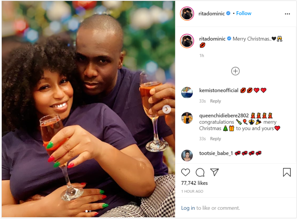 Nollywood actress Rita Dominic shows off her boyfriend Fidelis Anosike 2