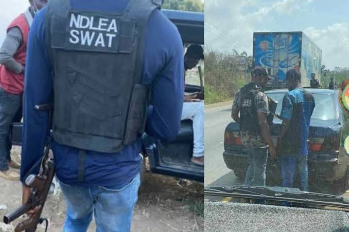 Outrage As New Security Outfit 'NDLEA SWAT' Spotted On Highway Searching People's Phone 1