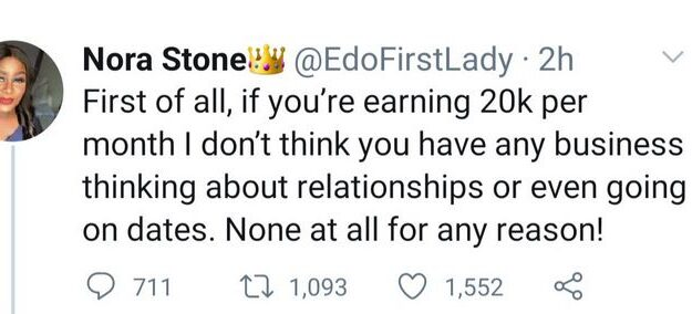 """People Earning Less Than N20k Monthly Have No Business Thinking About Relationships"" – Nigerian Economist Says"