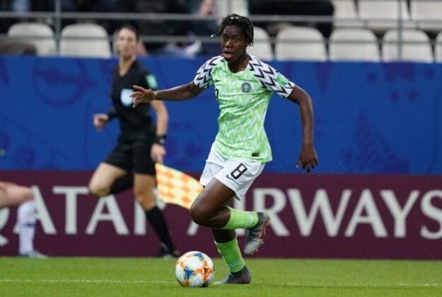 Super Falcons Captain, Asisat Oshoala Nominated For Prestigious UEFA Award
