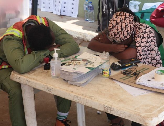 Where are the voters? INEC officials sleep off