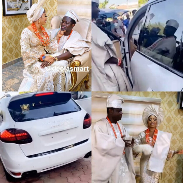 Wow! Malivelihood Gifts His Wife A Porsche Cayenne At Their Traditional Wedding (Photos/Video)