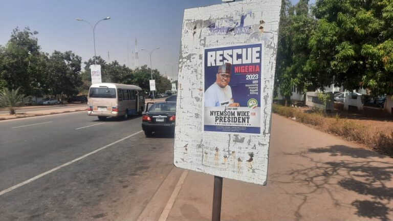 2023 Presidential Campaign Posters Of Nyesom Wike Spotted In Abuja [Photos] 2