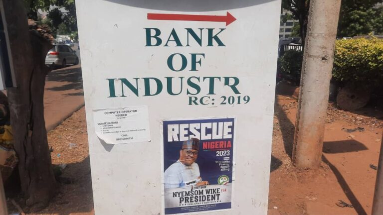 2023 Presidential Campaign Posters Of Nyesom Wike Spotted In Abuja [Photos] 3