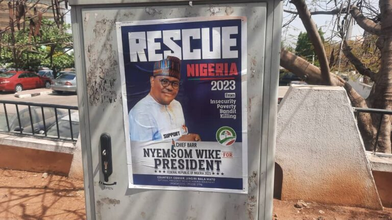 2023 Presidential Campaign Posters Of Nyesom Wike Spotted In Abuja [Photos] 5