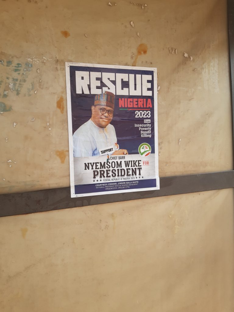 2023 Presidential Campaign Posters Of Nyesom Wike Spotted In Abuja [Photos] 6