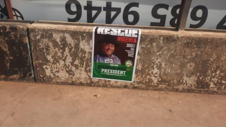 2023 Presidential Campaign Posters Of Nyesom Wike Spotted In Abuja [Photos] 7