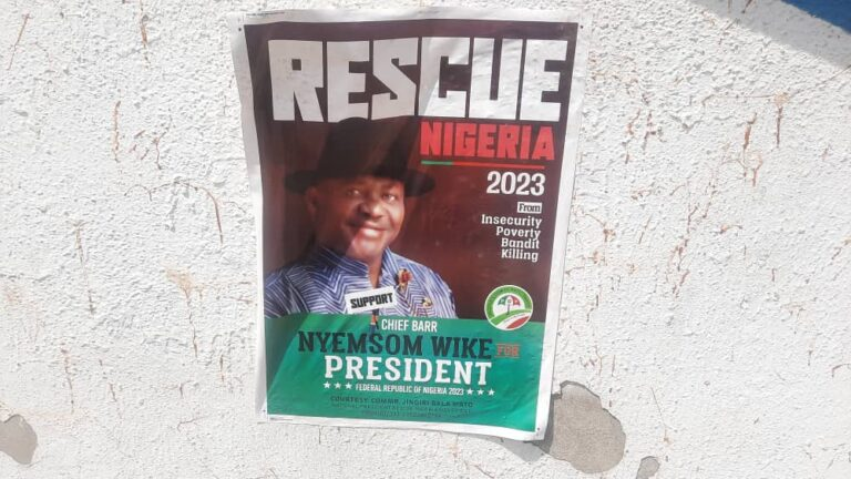 2023 Presidential Campaign Posters Of Nyesom Wike Spotted In Abuja [Photos] 1