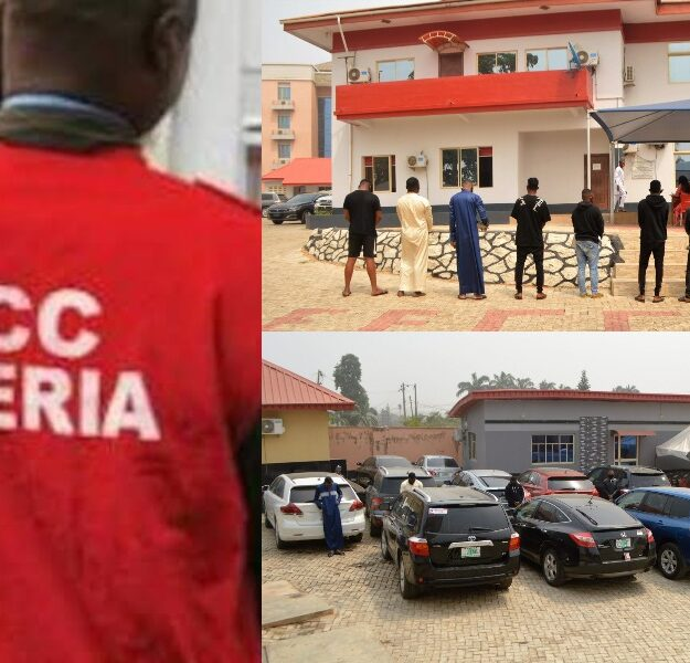 EFCC Arrests 11 Suspected 'Yahoo Boys' With 12 Exotic Cars In Osogbo [Photos]