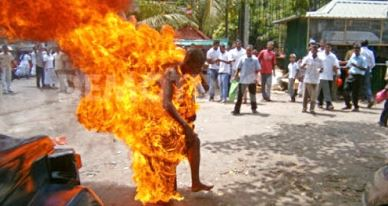 Mob Set Suspected Thief Set Ablaze In Ibadan