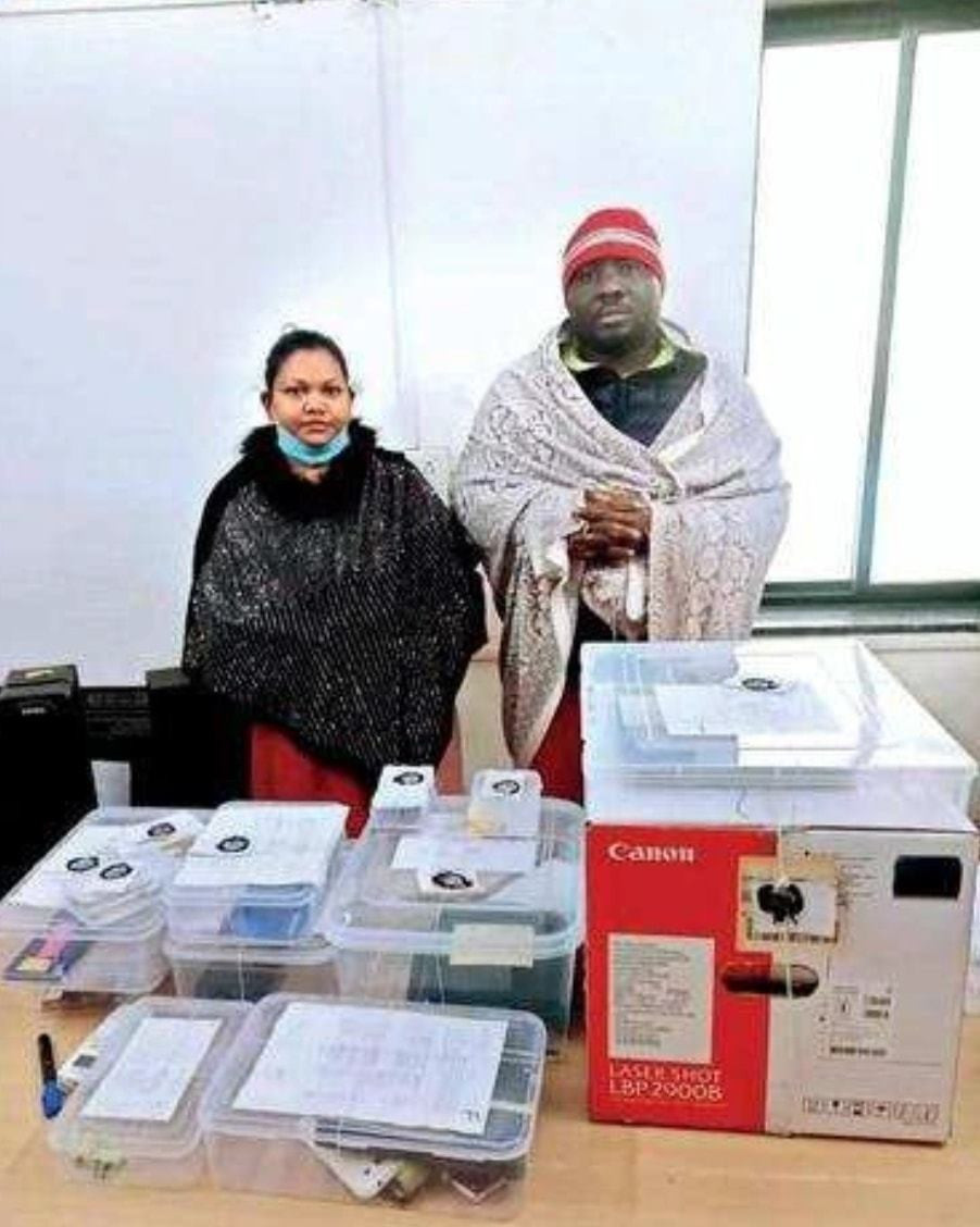 The man arrested alongside his wife in India