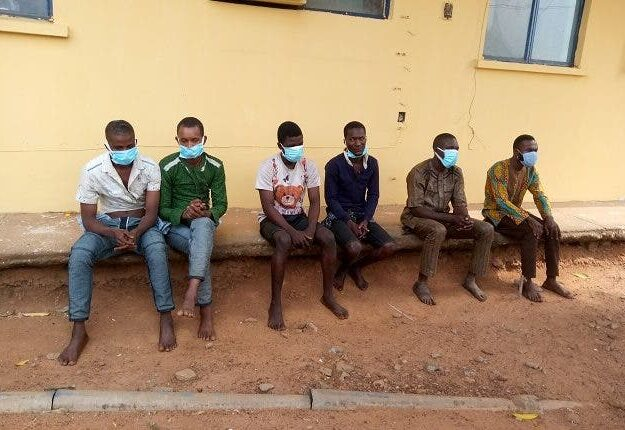 See Photo Of Strip Party Organisers and Kidnappers Paraded In Kwara
