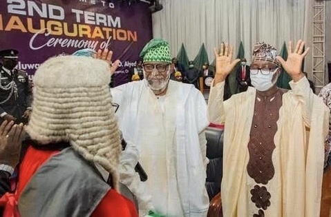 2nd Term Inauguration: Akeredolu appreciates Oyetola for his support