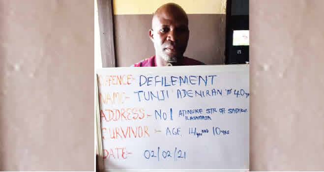 40-Year-Old Man Arrested For Drugging And Defiling His Two Minor Stepdaughters In Lagos 1