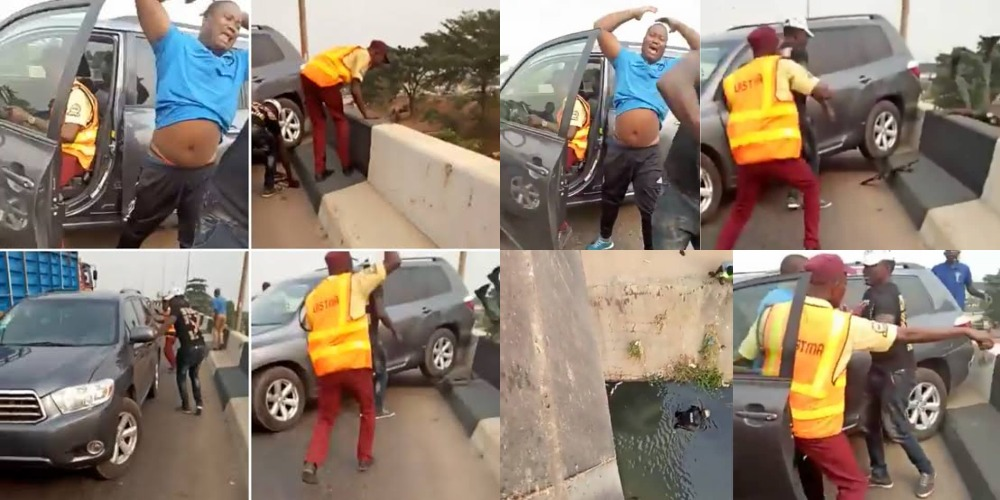 Driver Knocks Policeman Off A Bridge While Trying To Escape LASTMA Officials [Video] 1
