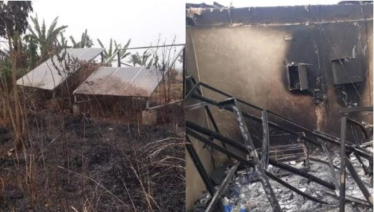 Herdsmen Set Solar Power Station On Fire in Ogun (Photos)