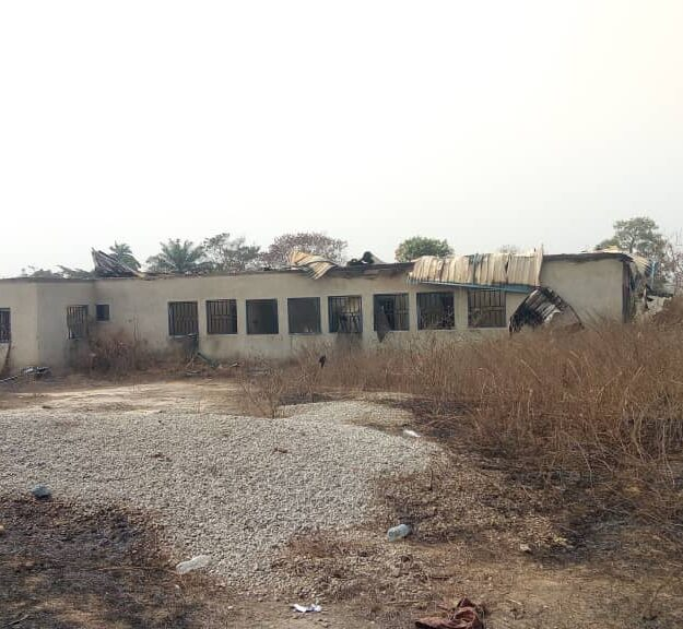 How Fire Razed, Destroyed Abandoned Multi-Million Naira Health Facility In Ondo