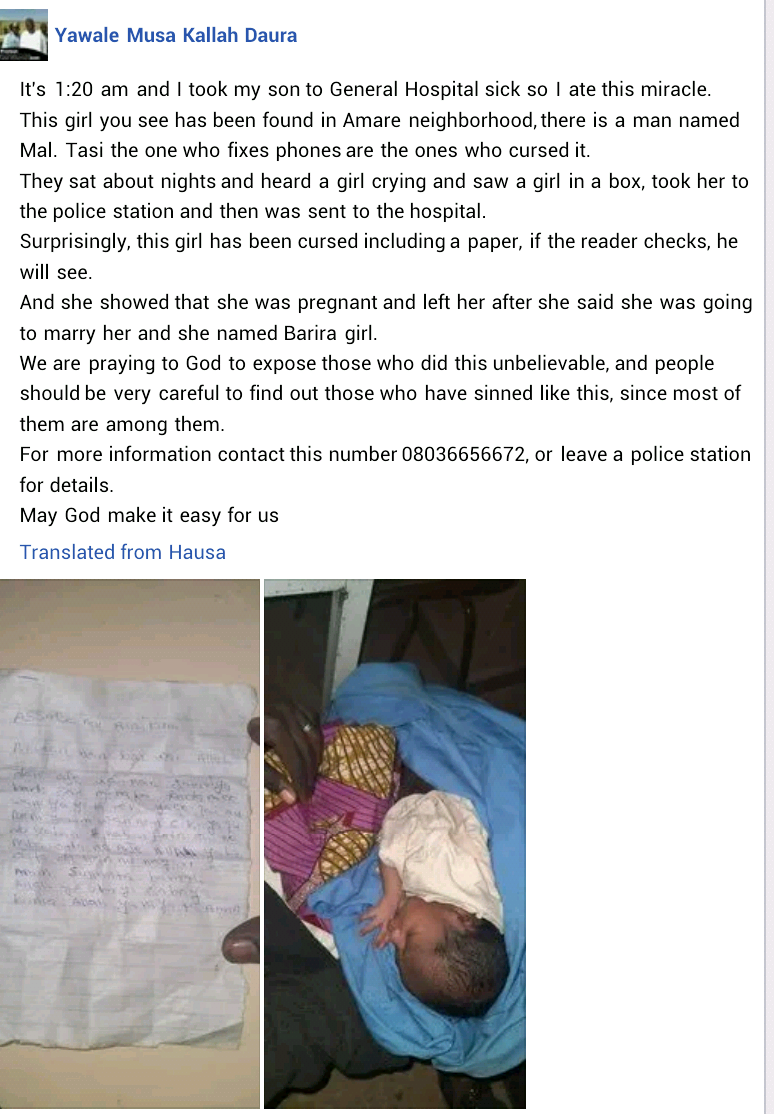 Katsina Woman Dumps Her Newborn Baby After She Was Abandoned By The Child's Father 2