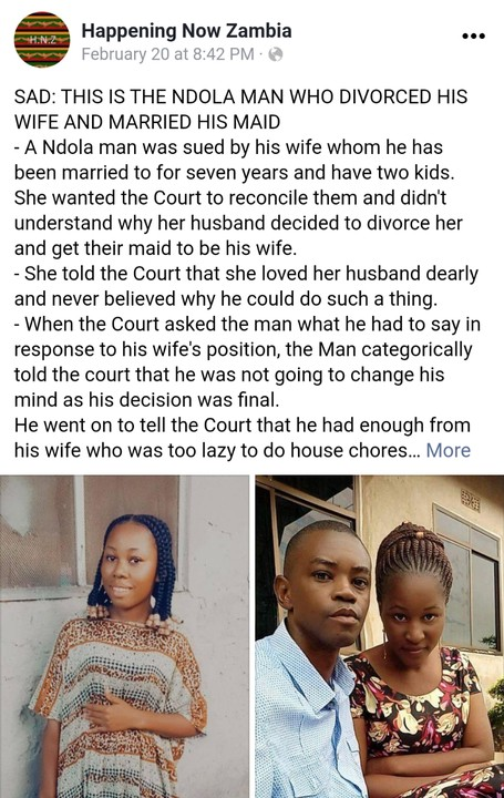 Man Divorces His Wife Of 7 Years For Being Too Lazy, Plans To Marry Their Housemaid 2