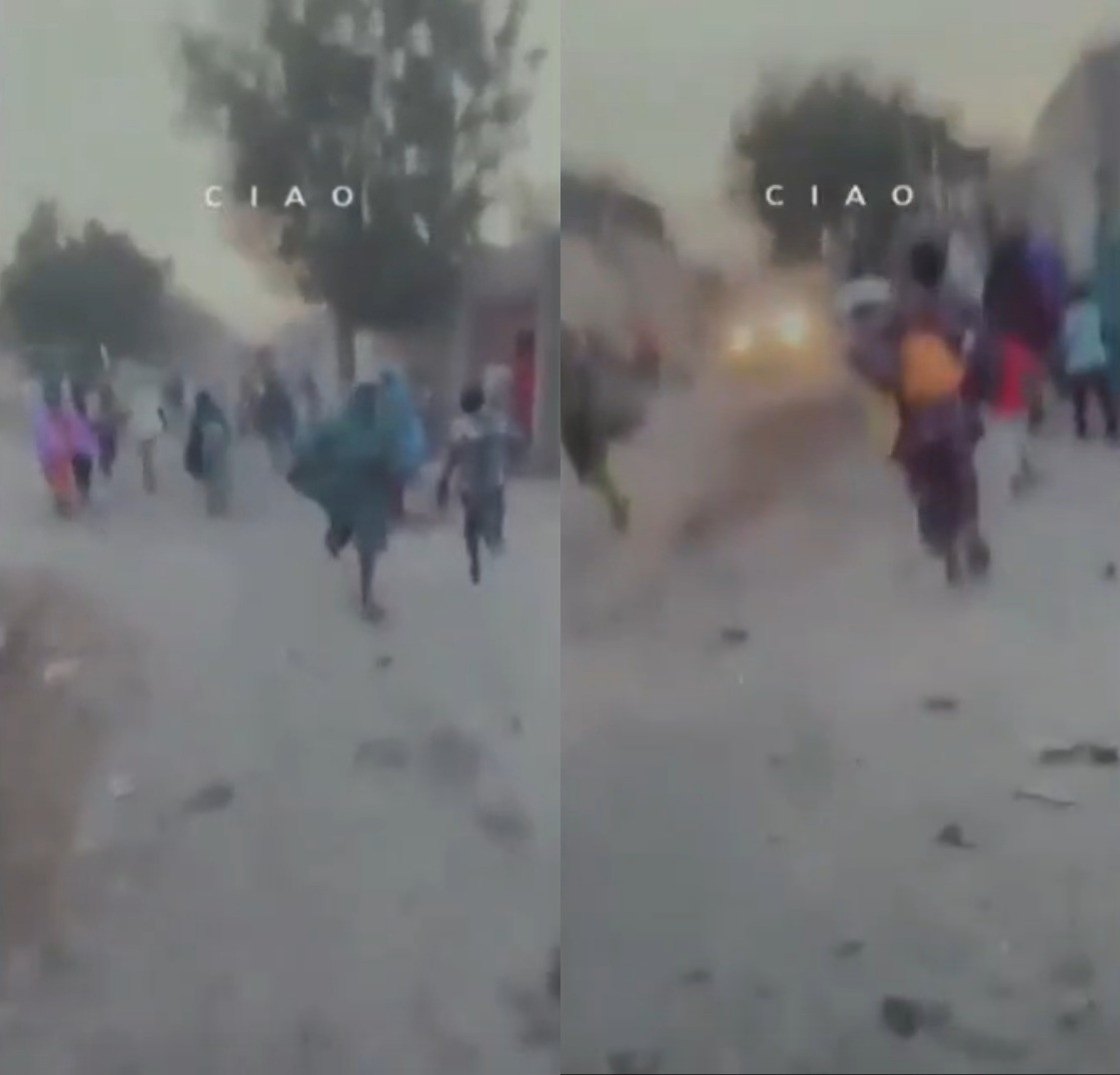 Residents run from Boko Haram attack