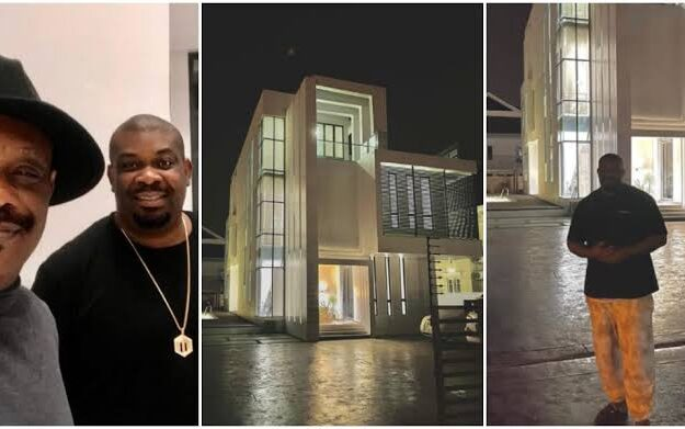 Music Mogul, Don Jazzy Show Off His Newly Acquired Mansion, Dad Celebrates [Photos]
