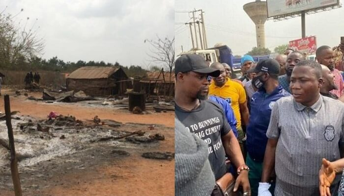 One Dead As Sunday Igboho Allegedly Burns Fulani Settlement In Ogun [Photos] 1