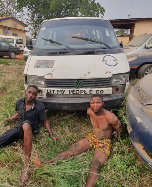 Photo Of Two Armed Robbery Suspects Nabbed After Opening Fire On Police In Ogun (Photo)