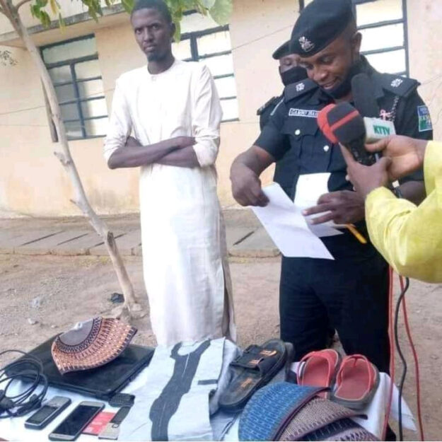 Photos Of Man Who Got Busted For Stealing Valuables From His Girlfriend's Home In Katsina (Photos)