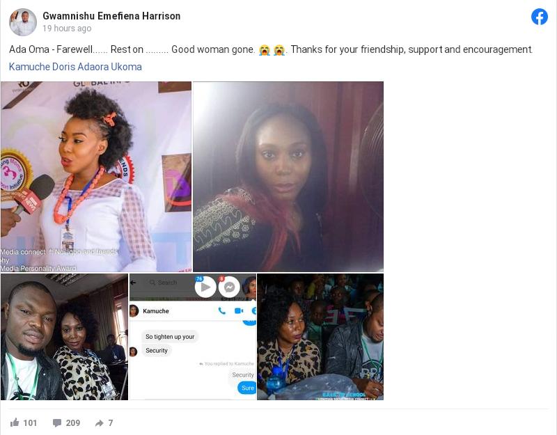 Popular Nigerian Blogger, Kamuche Doris Dies After Celebrating Her Birthday 3