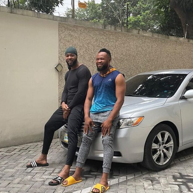 Popular Singer, Flavour Surprises His Childhood Friend With A Car (Photos)