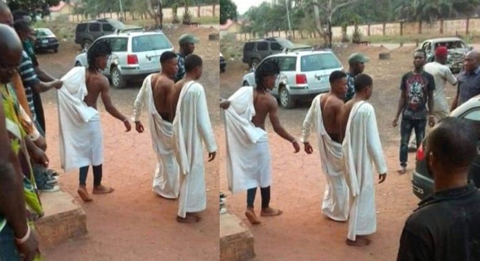 Three Young Men Caught Red Handed Trying To Use A Lady For Money Rituals In Edo 1