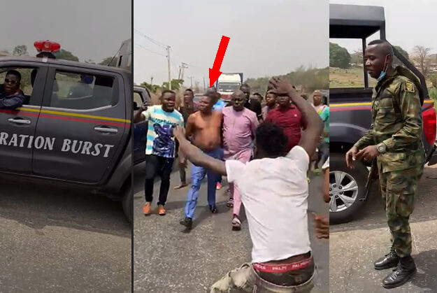 Watch The Chaotic Moment Security Operatives Tried To Arrest Sunday Ighoho (Video)