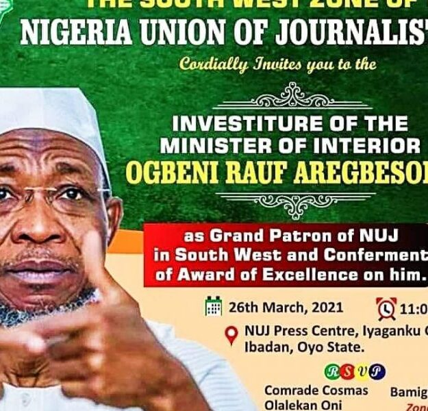 Aregbesola Award Tears South West NUJ Apart