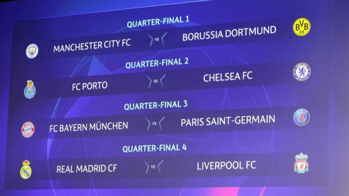 Chelsea face FC Porto as Man City pair BorussiaDortmundin UEFA Champions league quarter-final