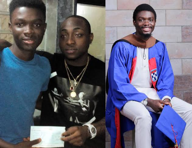 Davido Reacts As Young Man He Funded His Education Graduates With First Class 1